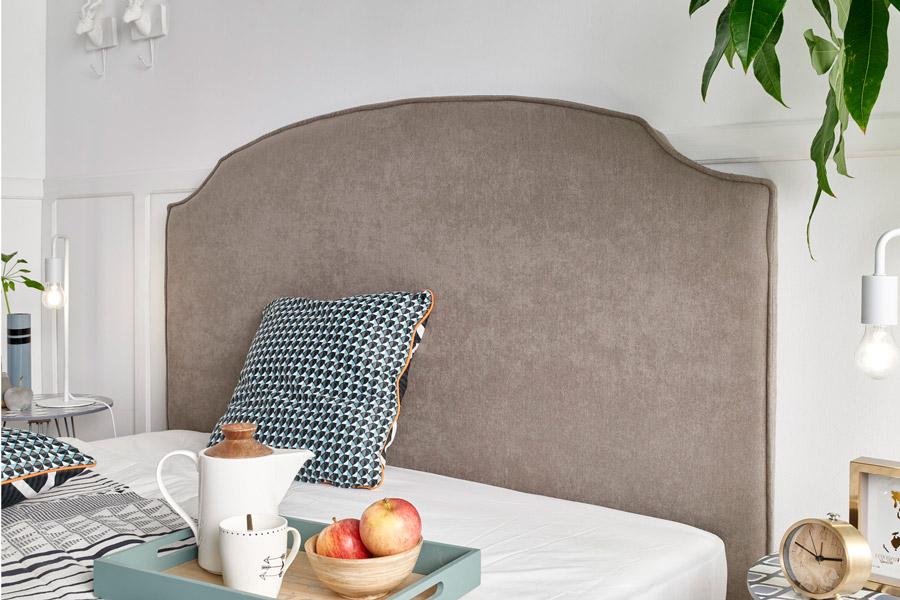 Cabecero tapizado gris Bruselas