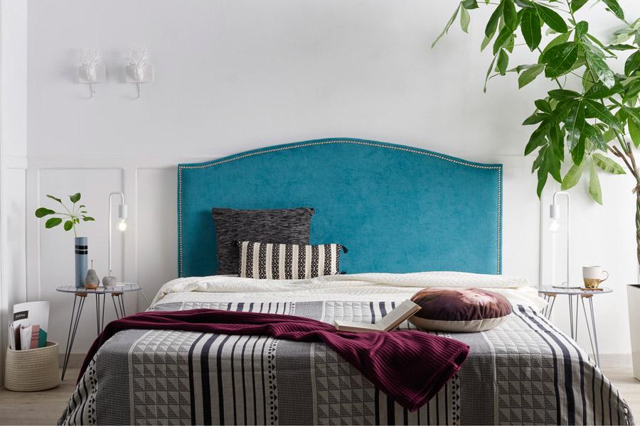 Cabecero tapizado Lisboa tachuelas
